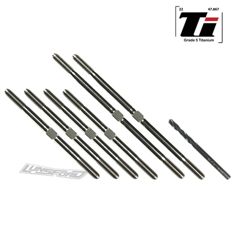 3.5mm SUPER DUTY Titanium Turnbuckle Kit for Tekno ET410