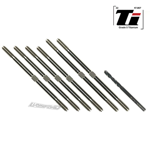 3.5mm SUPER DUTY Titanium Turnbuckles for Yokomo YZ-2 T
