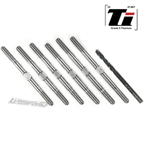 3.5mm SUPER DUTY Titanium Turnbuckle Kit for Yokomo YZ-2 DTM 3