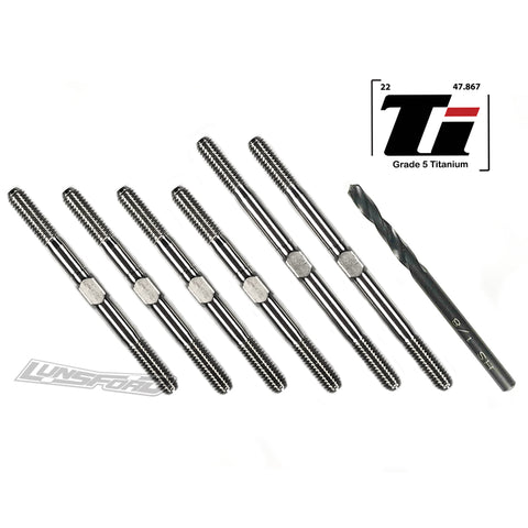 3.5mm SUPER DUTY Titanium Turnbuckle Kit for Tekno EB410.2