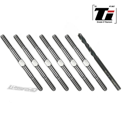 3.5mm SUPER DUTY Titanium Turnbuckle Kit for Team Associated RC10B6.2