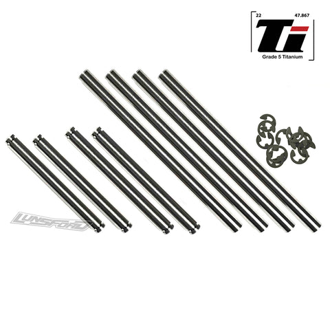 Titanium Hinge Pin Kit TRAXXAS® Slash® 4x4 Ultimate & Platinum (8)