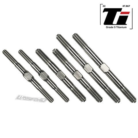 4/5mm Titanium Turnbuckle Kit for Tekno EB48 2.0