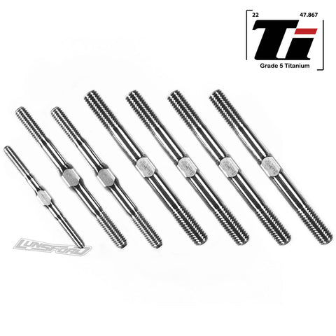3mm / 4mm / 5mm Titanium Turnbuckle Kit for XRay XB8 (C-Hub) 2020