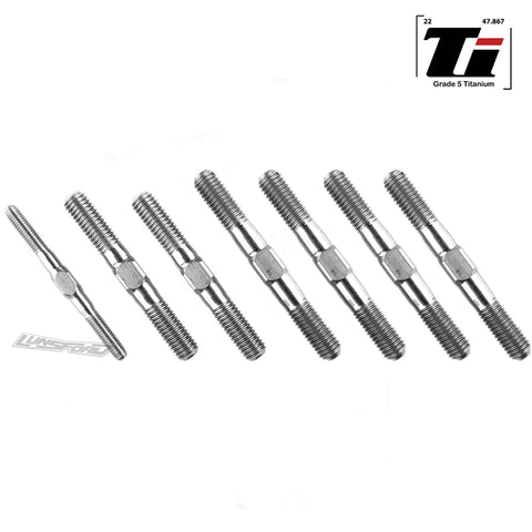 3mm / 5mm Titanium Turnbuckle Kit for Serpent SRX8 Pro GP