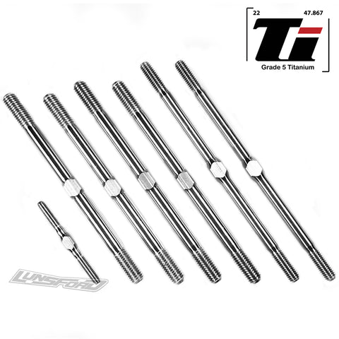 3/4/5mm Titanium Turnbuckle Kit for XRay XT8