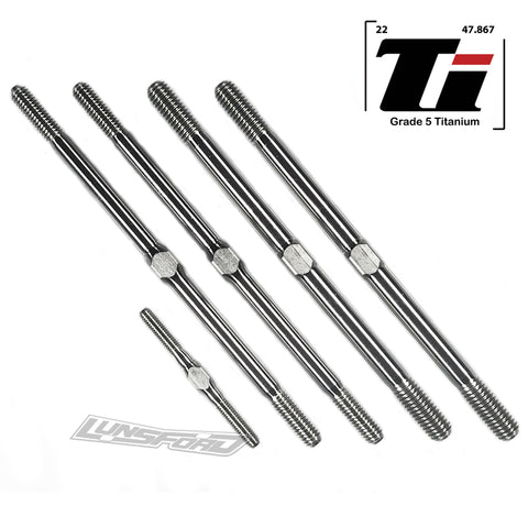 3/4/5mm Titanium Turnbuckle Kit for Corally Dementor, Kronos, Shogun XP 6S