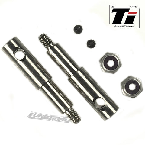 Titanium Wide Front Axles for Team Associated RC10GT