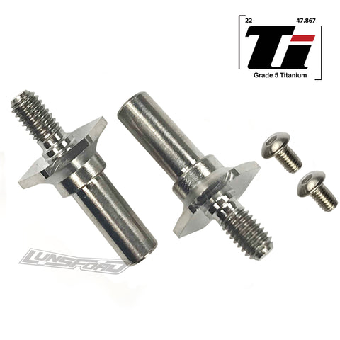 Titanium Front Axles for ALL Team Associated RC10B6 / B6.1 / B6.2 / DR10 Versions