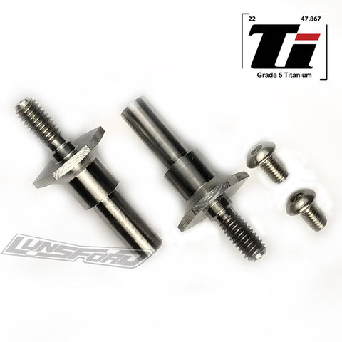 Titanium Axles for RC10T6.1 / RC10T6.2 / RC10SC6.1 / RC10SC6.2