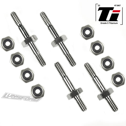 Quick Tune Titanium Shock Mounts for Losi XXX-BK2, XXX-CR