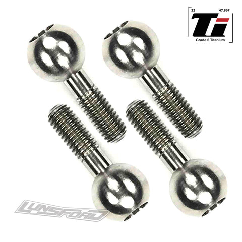 Titanium Pivot Balls for TRAXXAS® Revo (All), T-MAXX (All), Slayer (All), E-Revo (All), E-MAXX (All), Summit