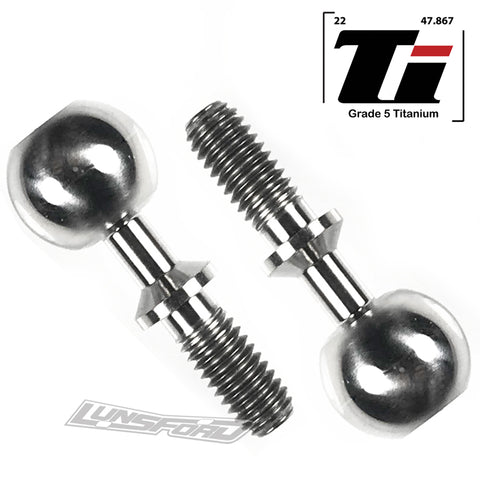 Titanium Pillow Balls for Mugen 1:8 Vehicles, Upper and Lower