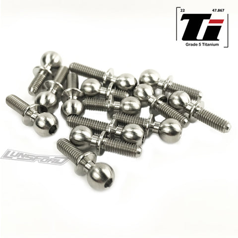 5.5mm Titanium Ball Stud Kit for Team Associated RC10B64D