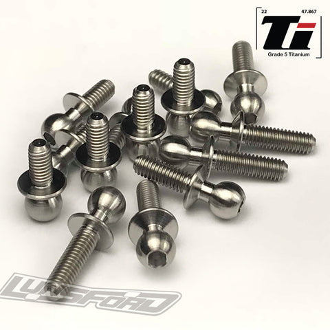 4.8mm Titanium Ball Stud Kit for TLR 22SCT 3.0