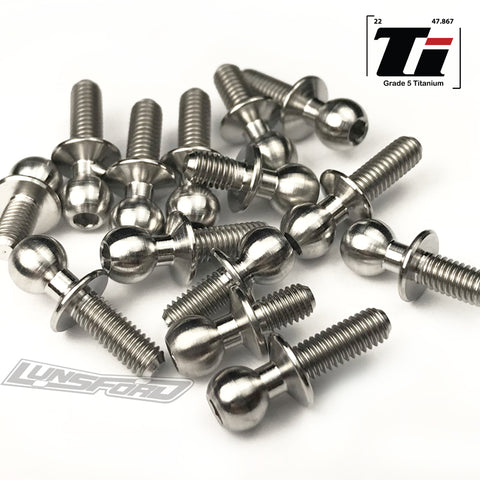 4.8mm Titanium Ball Studs for TLR 22-4 2.0