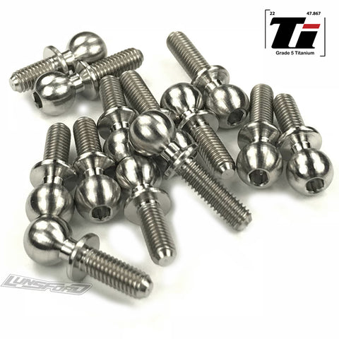 5.5mm Titanium Ball Stud Kit for Tekno ET410 when using Associated Ball Cups