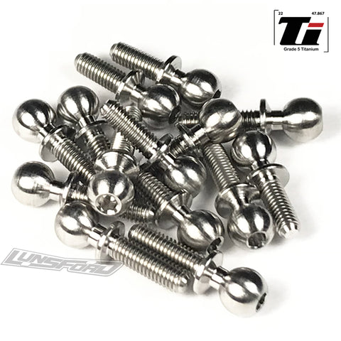 5.5mm Titanium Ball Stud Kit for Yokomo YZ-2 DTM 3 (14pcs)