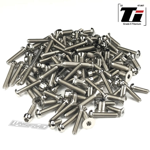 Titanium Screw Kit for Kyosho Inferno MP9 TKi4 Top Deck (124pcs)
