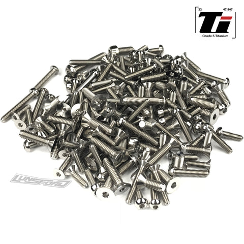 Titanium Screw Complete Kit for Kyosho Inferno MP9 TKi4 (165pcs)