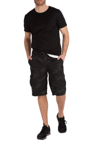 WEAR FIRST Legacy Black Camo Cargo Short