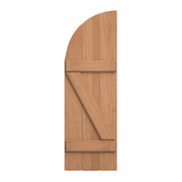 Board and Batten Arch Top & Z Bar Cedar Shutter - 1 Pair