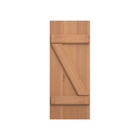 Board and Batten Z Bar Cedar Shutter - 1 Pair