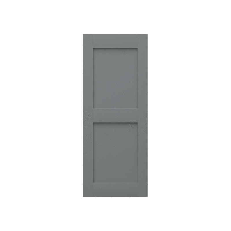 Raised Two Panel Composite Wood Exterior Shutter - 2 Equal Sections - 1 Pair