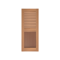 Louver Over Flat Panel Cedar Shutter w/ Extira Composite Panels - 1 Pair