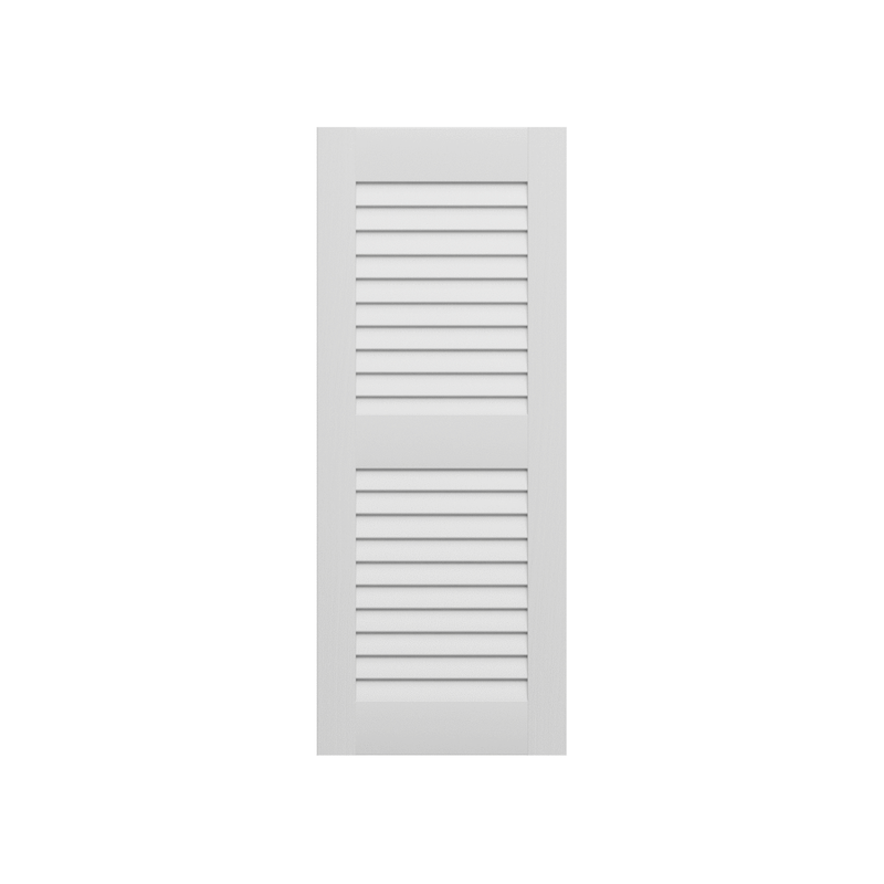 LEE TEST 2 Louvered Composite Shutter - 2 Equal Sections - 1 Pair