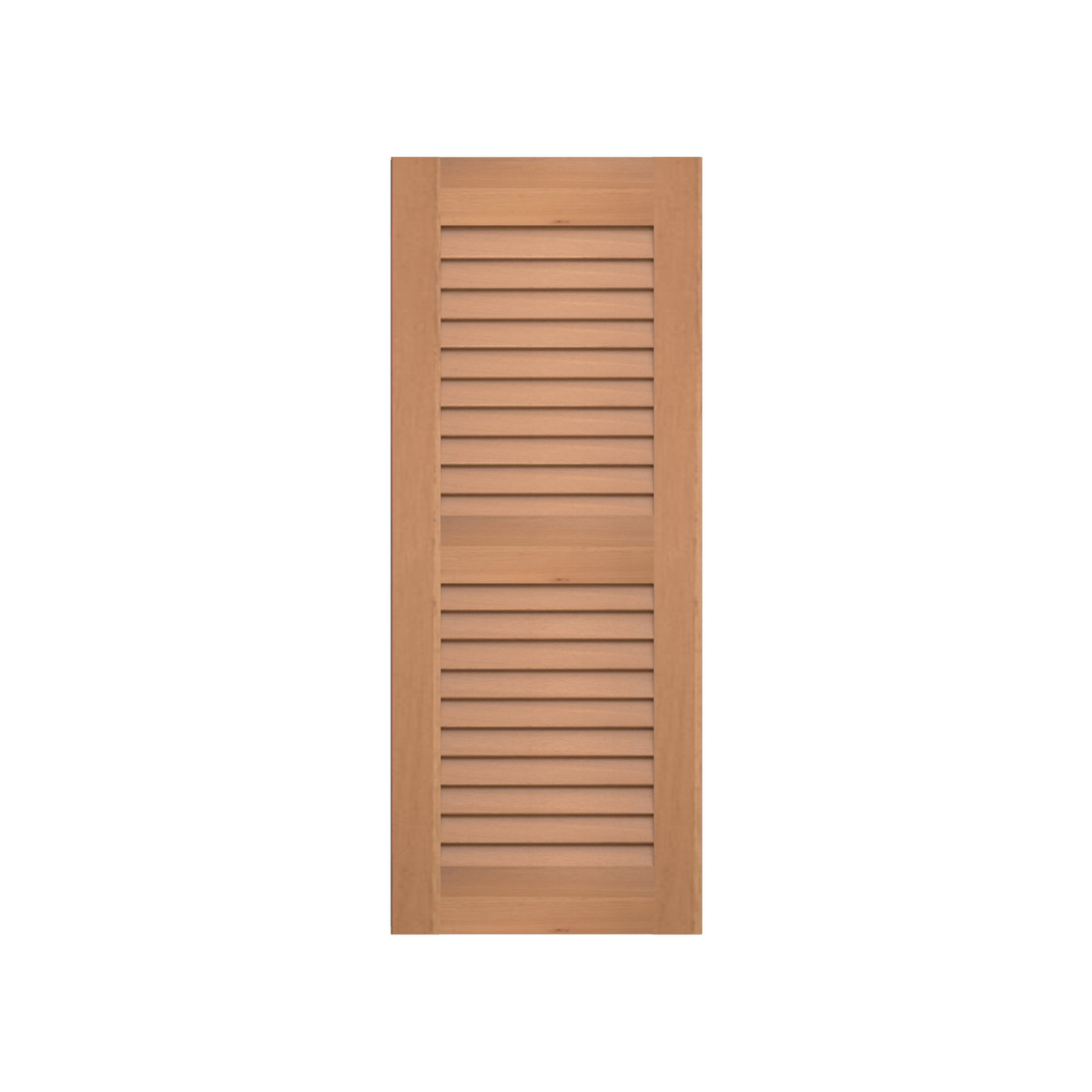 louvered cedar shutter 2 equal sections 1 pair monument shutters