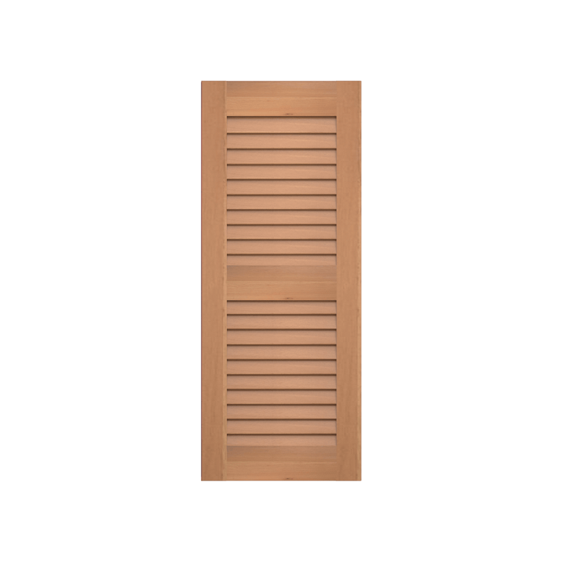 Louvered Cedar Shutter - 2 Equal Sections - 1 Pair