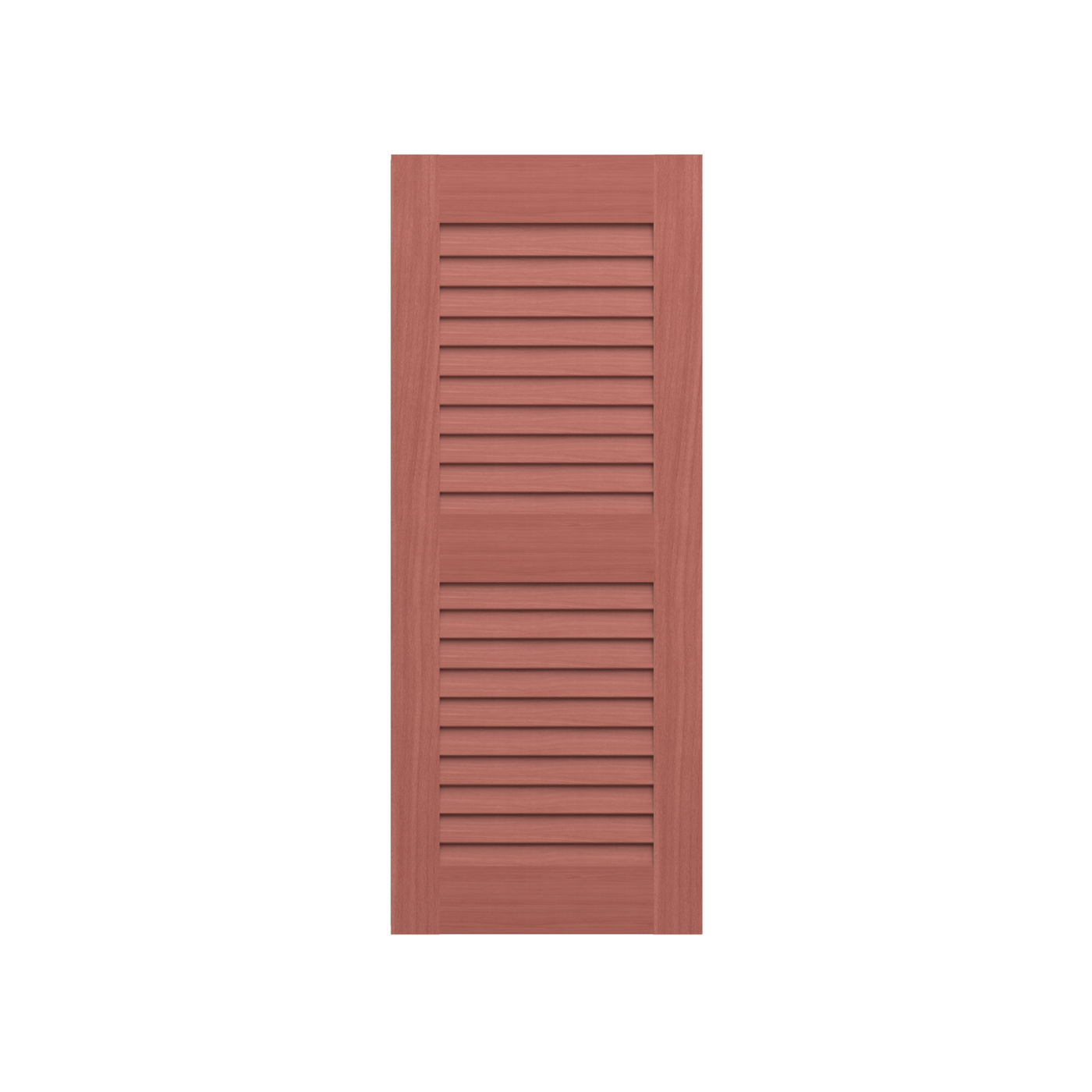 louvered mahogany shutter 2 equal sections 1 pair monument