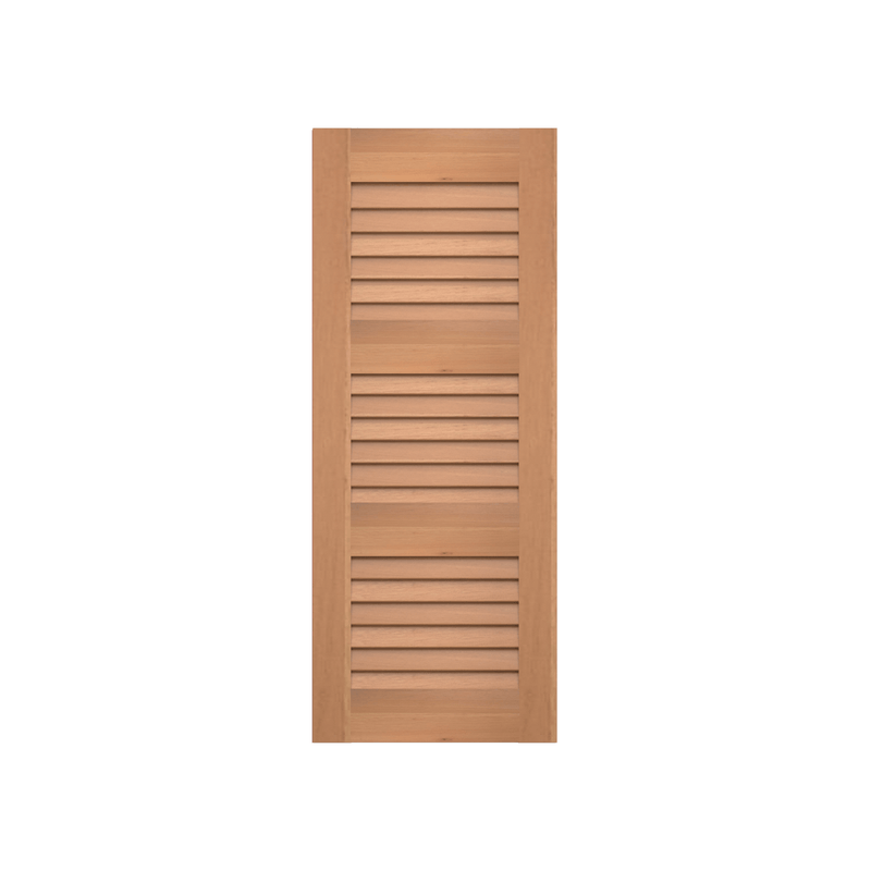 Louvered Cedar Shutter - 3 Equal Sections - 1 Pair