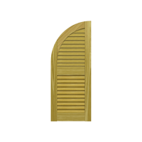 Louvered Arch Top Pine Shutter - 2 Equal Sections - 1 Pair