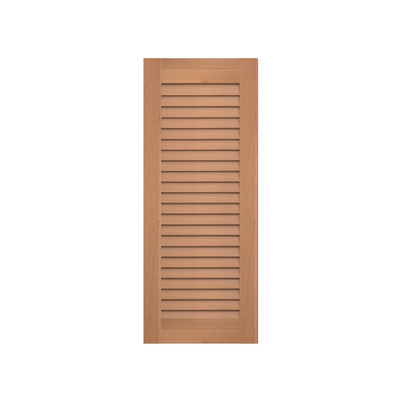 Louvered Cedar Shutter - No Mid Rail - 1 Pair