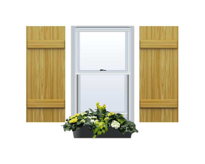 Board and Batten Pine Shutter - 1 Pair