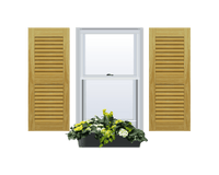 Louvered Pine Shutter - 2 Equal Sections - 1 Pair