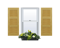 Louvered Pine Shutter - 3 Equal Sections - 1 Pair