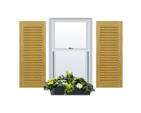 Louvered Pine Shutter - No Mid Rail - 1 Pair