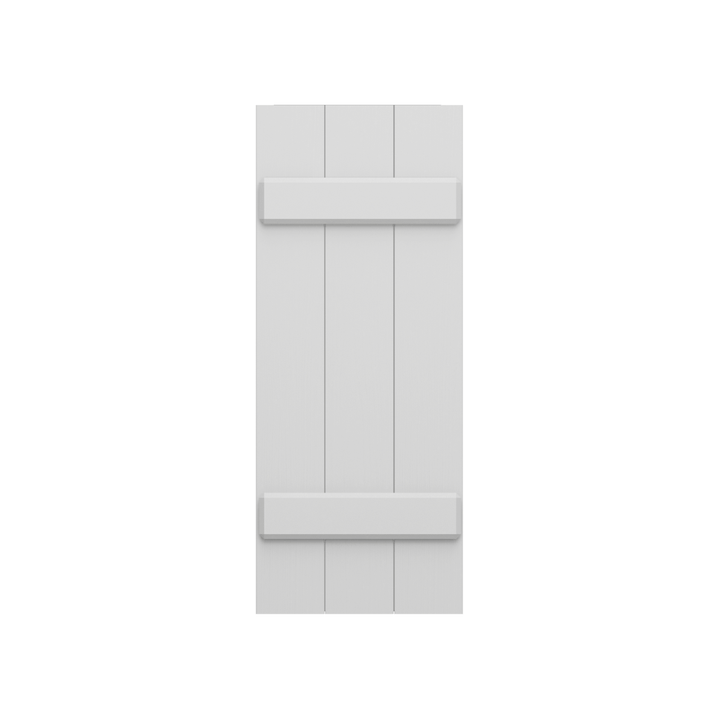 Joined (2) Board & Batten Composite Wood Exterior Shutter - 1 Pair