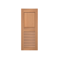 Raised Panel Over Louver Cedar Shutter - 1 Pair
