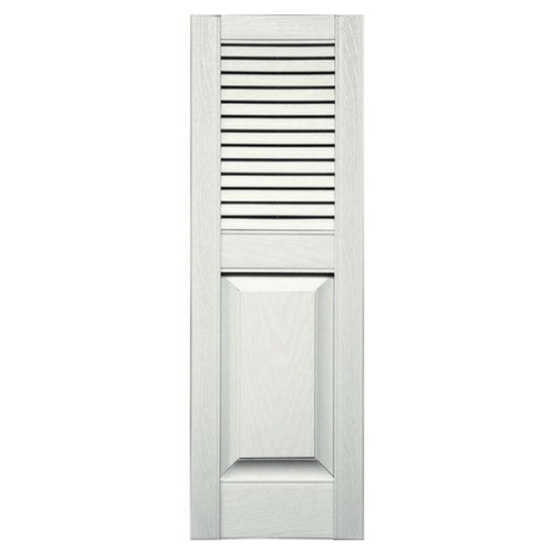 Standard Top Louver Over Panel Vinyl Shutter (1 Pair)