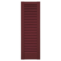 Straight Top All Louver Vinyl Shutter (1 Pair)