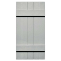 Joined Board and Batten 5 Board Vinyl Shutter (1 Pair)