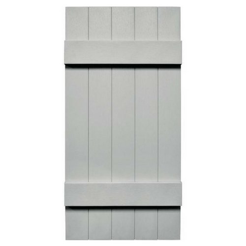 Joined (5) Board & Batten Composite Wood Exterior Shutter - 1 Pair