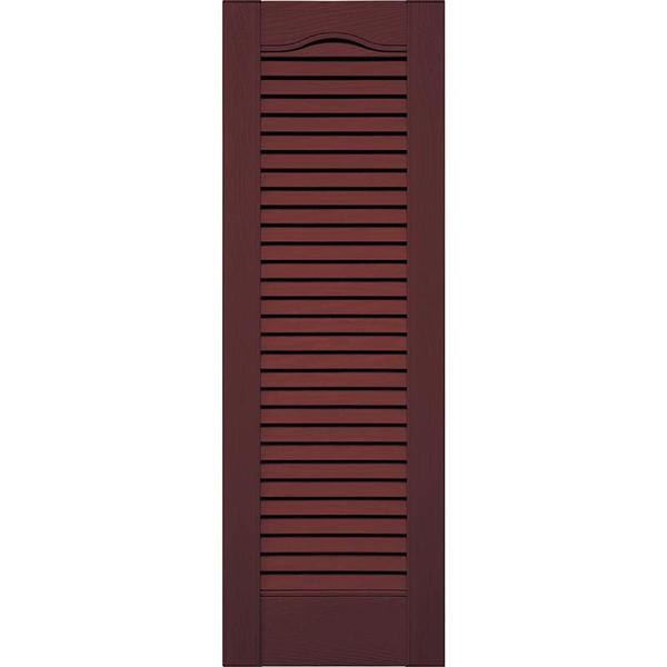 Cathedral Top All Louver Vinyl Shutter (1 Pair)