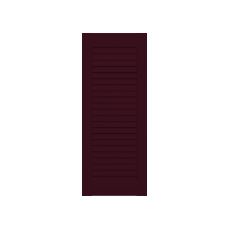 Louvered Mahogany Shutter - No Mid Rail - 1 Pair