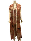 Woman's long silk beaded robe