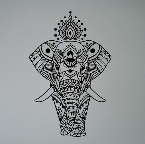 Elephant Wall Sticker (Multiple Colors Available)